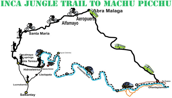inca-jungle-trail-4-days-map